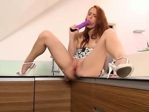 Pissing redhead strip snatch