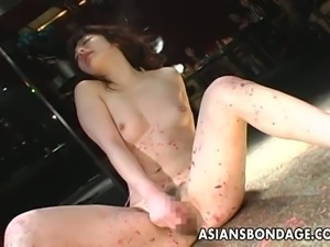 Asian slave gets abused by her mistress