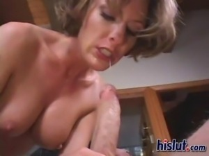 Miles is a total MILF who totally sucks a dick