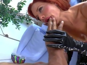 Veronica Avluv is a nice looking red-haired milf with perfect big hooters....