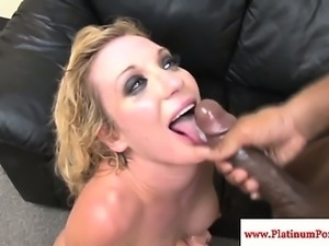 Amy Brooke swallowing his fresh load