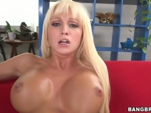 busty blonde impaled by a massive cock