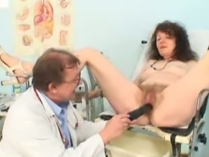 Mature karla needs her hairy old pussy examined