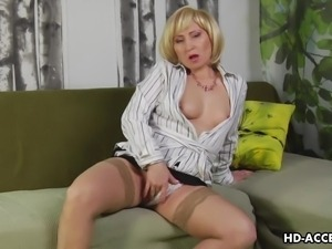 mature blonde masturbates for you