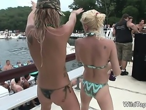 Outrageous wild babes in x-rated action