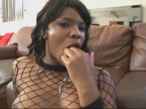 Black whore gets shared between two horny boys