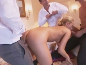 Horny slut aleska diamond fucked by three cocks