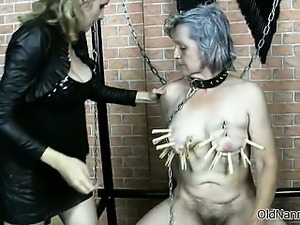 Horny kinky fetish loving granny gets part5