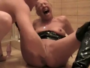A filthy fist and piss whore amateur housewife