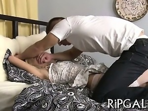 Ass of girl is drilled