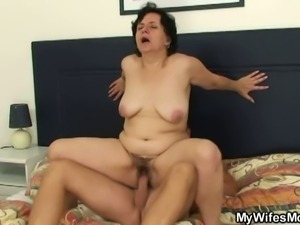 Horny bastard fucks mother in law