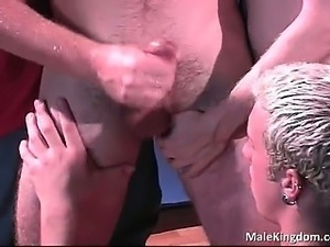Gorgeous threesome and one horny queer