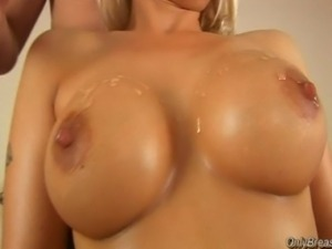 Big breasts babe gets fucked and cum between boobs