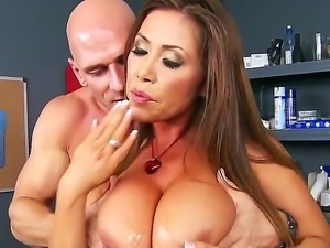 Johnny Sins explores the depth of flirty Kianna Diors wet pussy hole with his...