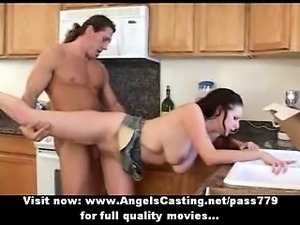 Lonely housewife fucked hard in extreme positions and getting cumshot