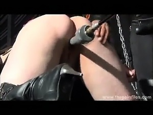 Amateur subbie girl is put on the fucking machine by her Mistress