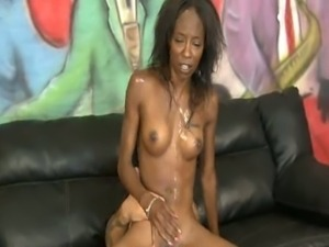 Skinny black hoe brutalized and fucked