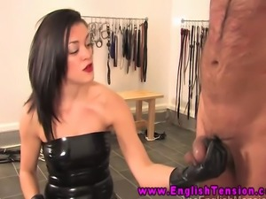 Prodomme mistress is canning submissive