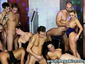 Group orgy sucking dick and fucked