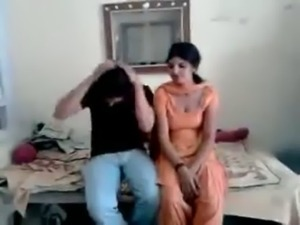 desi couple having fun in front of friend who shoots on mob cam free