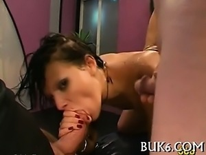 Cumshots on babe's pretty face
