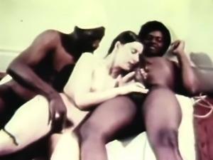 hot retro threesome banging