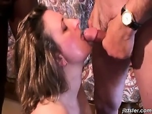 Fantastic sucking and jerking scene