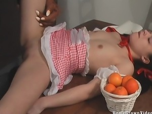 As Red Riding Hood Homegrown Video Emily finds Tom -She sucks his big bad...