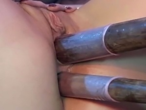 Insatiable slut was so horny she even stuck lava lamp up her needy twat