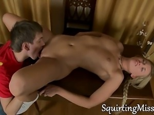 squirting blonde all tied up