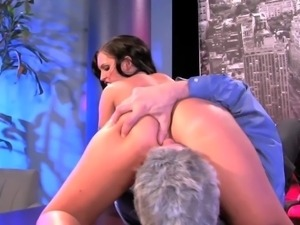 Stunning black haired bombshell Jenna Presley with delicious ass and big firm...