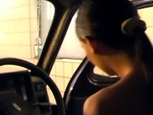 Washing the car turns into a steamy and wet softcore action