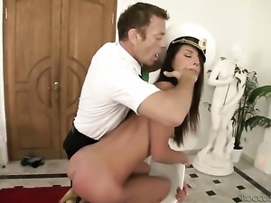 Rocco Siffredi makes Nataly Gold scream and shout with his hard man meat in...