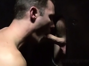 Cameron is cruising the local glory holes when he finds two