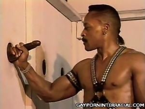 Black Gay Glory Hole Blowjob
