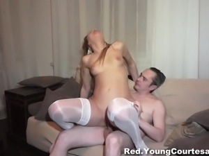 Courtesan pussy creampied