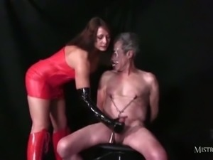 Old slave gets tortured by mistress carly