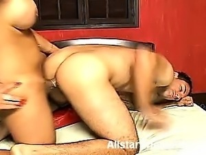 Cock greedy shemale Walkiria opens this scene by showing