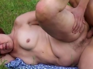 This momma looks so nice with her ass up that the boy just can�t...