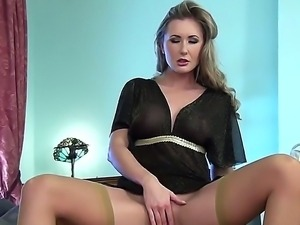 Watch the cool-looking scene with magnetic girlie Sammi Tye. The babe with...