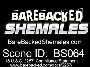 Shemale Bareback with Massive Cumshot