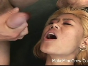 Asia - Big Ass Redhead Girl Banged Hard Together With A Facial