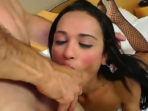 Tranny sex with Clara T and Paulo Macky would make you turned on. Man is...