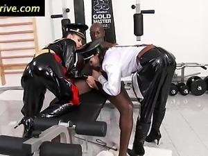 Femdom mistresses suck and tug