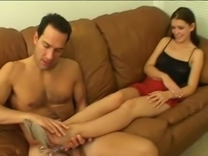 Alicia Alighatti Gives the Footjob