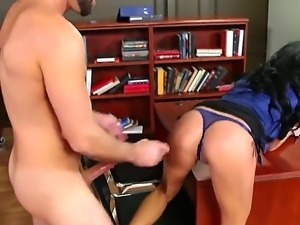 Alektra Blue is a kinky professor who rubs her pussy but she wanted something...