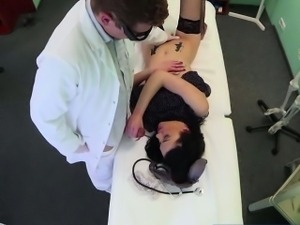 Brunette chick Inga gets pussy fucked