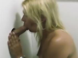 Real smoking slut at gloryhole