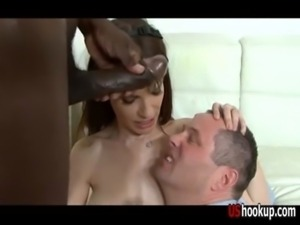 Interracial cuckold cumshot compilation free