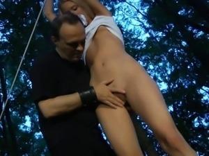 Naughty blonde slave gets kinky experiencing bdsm pleasures